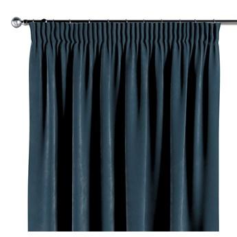 Zasłona na taśmie marszczącej 1 szt., pruski błękit, 1szt 130 × 260 cm, Velvet