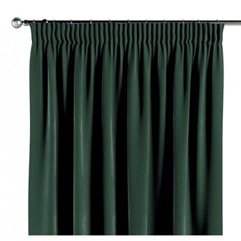 Zasłona na taśmie marszczącej 1 szt., ciemny zielony, 1szt 130 × 260 cm, Velvet