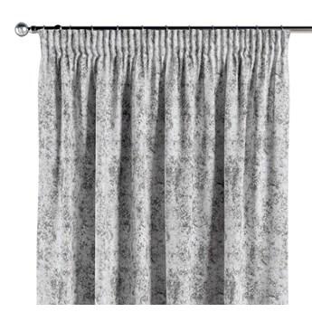 Zasłona na taśmie marszczącej 1 szt., szaro-biały, 1szt 130 × 260 cm, Velvet