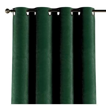 Zasłona na kółkach 1 szt., butelkowa zieleń, 1szt 130 × 260 cm, Velvet