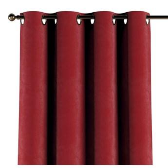 Zasłona na kółkach 1 szt., intensywna czerwień, 1szt 130 × 260 cm, Velvet