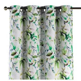 Zasłona na kółkach 1 szt., zielone gałązki na kremowym tle, 1szt 130 × 260 cm, Velvet