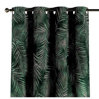 Zasłona na kółkach 1 szt., zielony w liście, 1szt 130 × 260 cm, Velvet