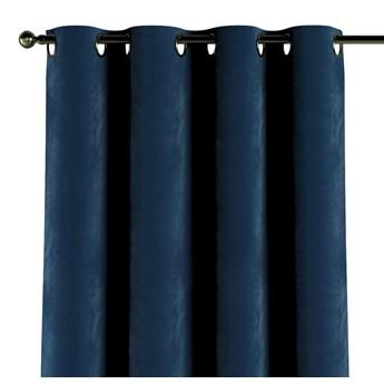 Zasłona na kółkach 1 szt., granat, 1szt 130 × 260 cm, Velvet