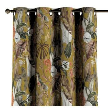 Zasłona na kółkach 1 szt., kwiaty na musztardowym tle, 1szt 130 × 260 cm, Abigail