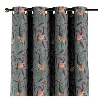Zasłona na kółkach 1 szt., kolorowe czaple na szaro-zielonym tle, 1szt 130 × 260 cm, Abigail