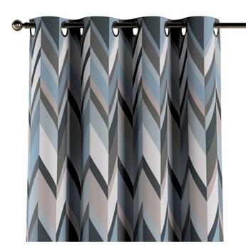 Zasłona na kółkach 1 szt., geometryczny wzór w niebiesko-beżowej kolorystyce, 1szt 130 × 260 cm, Vintage 70's
