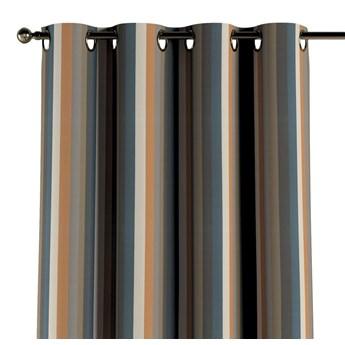 Zasłona na kółkach 1 szt., kolorowe pasy w rudo-brązowo-niebieskiej kolorystyce, 1szt 130 × 260 cm, Vintage 70's