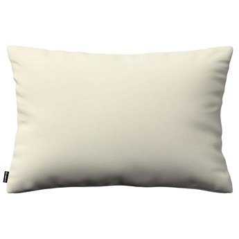 Poszewka Kinga na poduszkę prostokątną, śmietankowa biel, 60 × 40 cm, Velvet