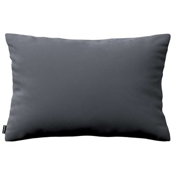 Poszewka Kinga na poduszkę prostokątną, grafitowy szary, 60 × 40 cm, Velvet