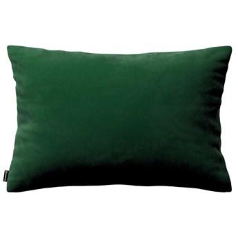 Poszewka Kinga na poduszkę prostokątną, butelkowa zieleń, 60 × 40 cm, Velvet
