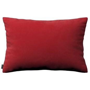 Poszewka Kinga na poduszkę prostokątną, intensywna czerwień, 60 × 40 cm, Velvet