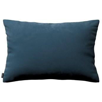 Poszewka Kinga na poduszkę prostokątną, pruski błękit, 60 × 40 cm, Velvet