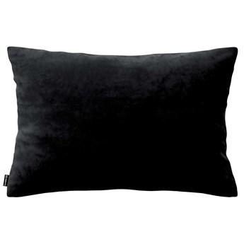 Poszewka Kinga na poduszkę prostokątną, głęboka czerń, 60 × 40 cm, Velvet