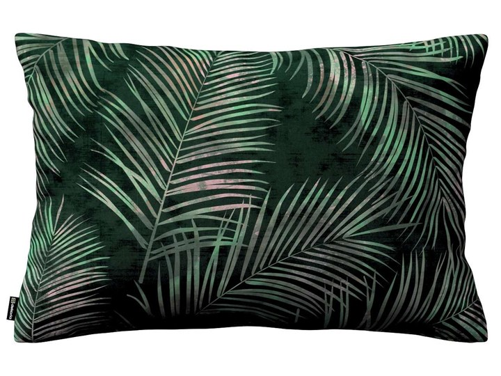 Poszewka Kinga na poduszkę prostokątną, zielony w liście, 60 × 40 cm, Velvet Prostokątne Poliester 40x60 cm Poszewka dekoracyjna 45x65 cm Pomieszczenie Salon