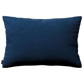 Poszewka Kinga na poduszkę prostokątną, granat, 60 × 40 cm, Velvet