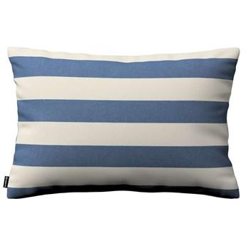 Poszewka Kinga na poduszkę prostokątną, niebiesko - białe pasy (5,5cm), 60 × 40 cm, Quadro