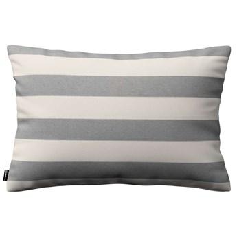 Poszewka Kinga na poduszkę prostokątną, biało - szare pasy (5,5cm), 60 × 40 cm, Quadro