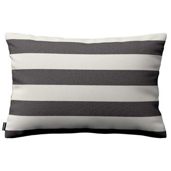 Poszewka Kinga na poduszkę prostokątną, biało - grafitowe pasy (5,5cm), 60 × 40 cm, Quadro