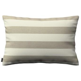 Poszewka Kinga na poduszkę prostokątną, beżowo - białe pasy (5,5cm), 60 × 40 cm, Quadro