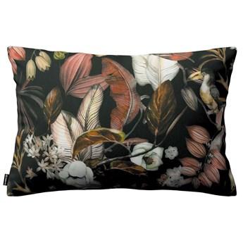 Poszewka Kinga na poduszkę prostokątną, kolorowe kwiaty na czarnym tle, 60 × 40 cm, Abigail