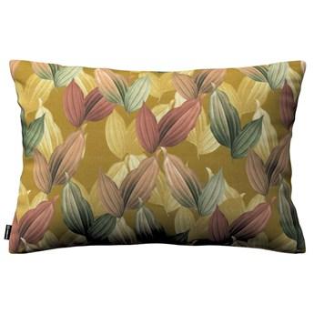 Poszewka Kinga na poduszkę prostokątną, kolorowe liście na musztardowym tle, 60 × 40 cm, Abigail