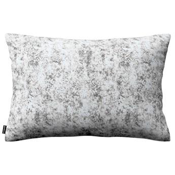 Poszewka Kinga na poduszkę prostokątną, szaro-biały, 60 × 40 cm, Velvet