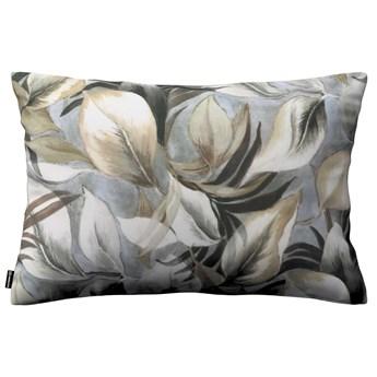 Poszewka Kinga na poduszkę prostokątną, szaro-beżowe liście, 60 × 40 cm, Abigail