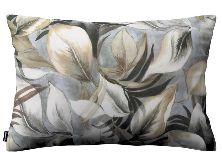 Poszewka Kinga na poduszkę prostokątną, szaro-beżowe liście, 60 × 40 cm, Abigail Bawełna 45x65 cm 40x60 cm Prostokątne Pomieszczenie Salon Poszewka dekoracyjna Kolor Beżowy