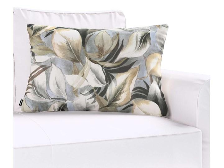 Poszewka Kinga na poduszkę prostokątną, szaro-beżowe liście, 60 × 40 cm, Abigail 45x65 cm Wzór Z nadrukiem Poszewka dekoracyjna Bawełna 40x60 cm Prostokątne Pomieszczenie Salon