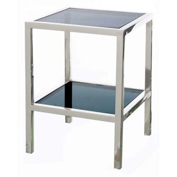 Stolik pomocniczy Mediolan dark glass, 46 × 46 × 64,5 cm