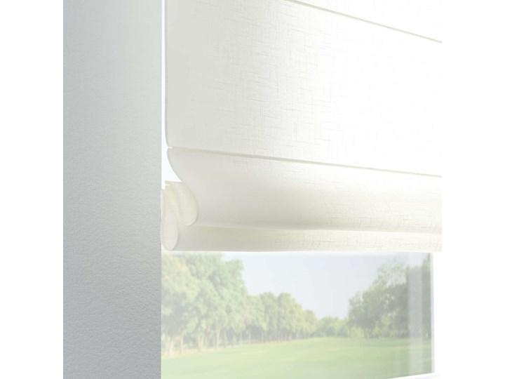 Roleta rzymska Verona, prześwitująca, ecru, szer.80 × dł.170 cm, Romantica Pomieszczenie Salon