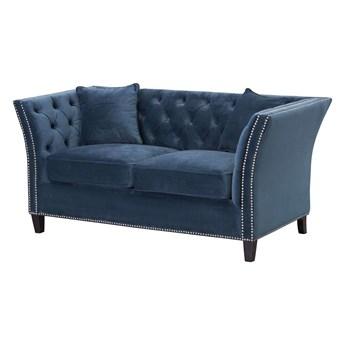 Sofa Chesterfield Modern Velvet Midnight 2-os., 172 × 87 × 82 cm