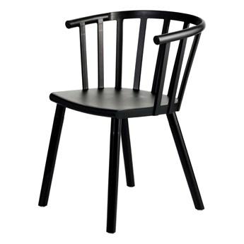 Krzesło Madlen Black, 54 × 43 × 76 cm