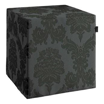 Pufa kostka, czarny, 40 × 40 × 40 cm, Damasco