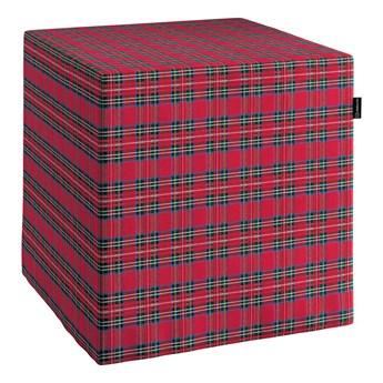 Pufa kostka, czerwona kratka, 40 × 40 × 40 cm, Bristol