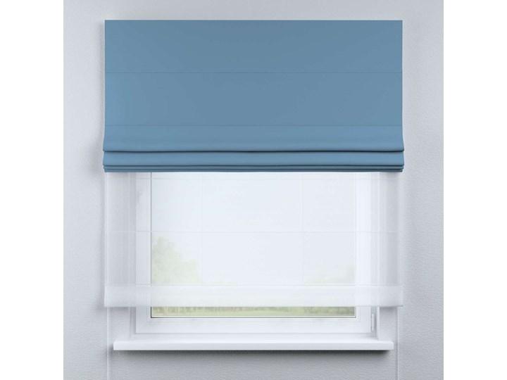 Roleta rzymska Duo, niebieski, szer.130 × dł.170 cm, Blackout - zaciemniające Roleta woalowa Typ Roleta zaciemniająca