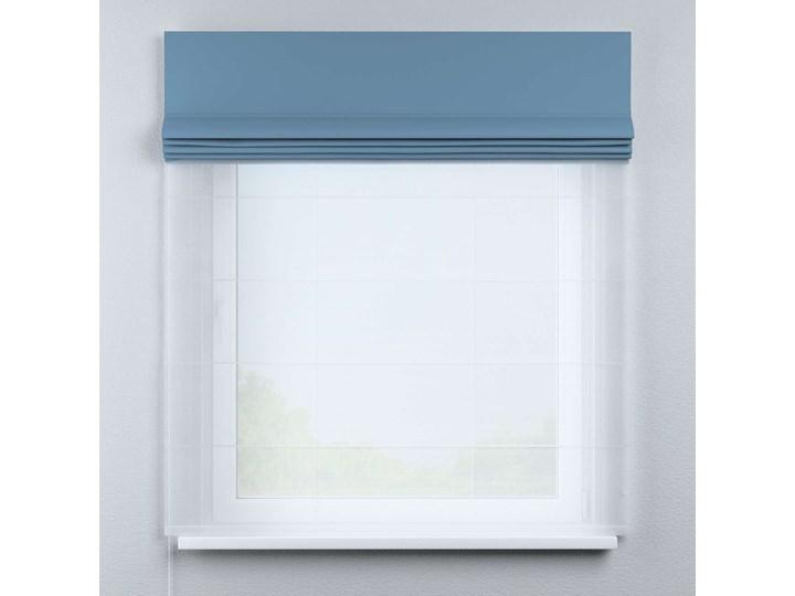 Roleta rzymska Duo, niebieski, szer.130 × dł.170 cm, Blackout - zaciemniające Roleta woalowa Pomieszczenie Biuro i pracownia Pomieszczenie Pokój nastolatka