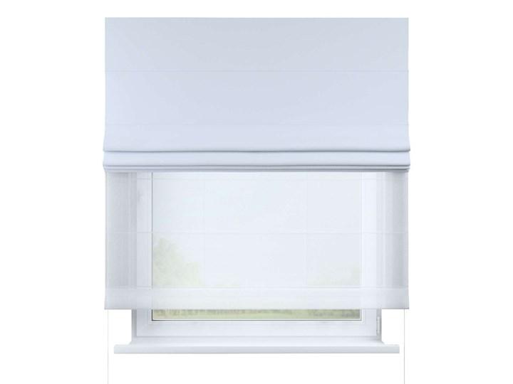 Roleta rzymska Duo, szaro-biały, szer.130 × dł.170 cm, Blackout - zaciemniające Roleta woalowa Pomieszczenie Pokój nastolatka Pomieszczenie Kuchnia