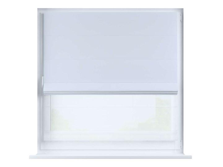 Roleta rzymska Duo, szaro-biały, szer.130 × dł.170 cm, Blackout - zaciemniające Pomieszczenie Pokój nastolatka Roleta woalowa Pomieszczenie Jadalnia