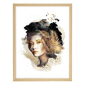 Obraz Woman 30x40cm gold, 30 × 40 cm