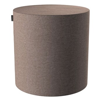 Puf Barrel, szaro-beżowy szenil, ø40, wys. 40 cm, Etna