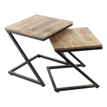 Komplet stolików Loft I 2szt., 45/40 x 40/38 x 45/39 cm