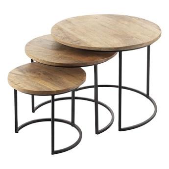 Komplet stolików Loft 3szt., 55/46/35 x 45/39/32 cm
