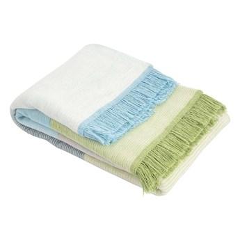 Koc Cotton Cloud 150x200cm Pastel Green&Blue, 150 x 200 cm