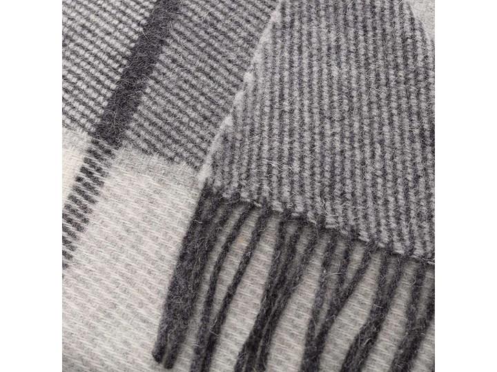 Pled Zelandia 140x200cm grey check, 140 x 200 cm Wełna 140x200 cm Pomieszczenie Sypialnia