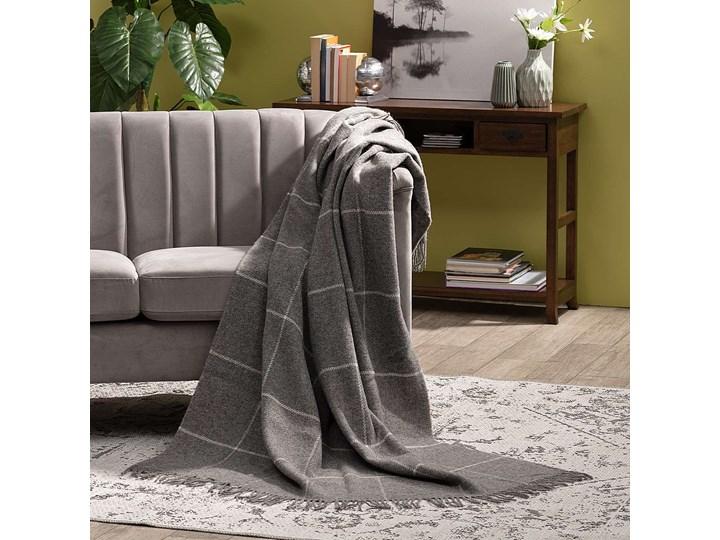Pled Zelandia 140x200cm check grey, 140 x 200 cm Wełna 140x200 cm Pomieszczenie Salon