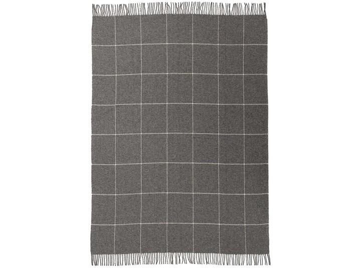 Pled Zelandia 140x200cm check grey, 140 x 200 cm Pomieszczenie Sypialnia 140x200 cm Wełna Kolor Szary