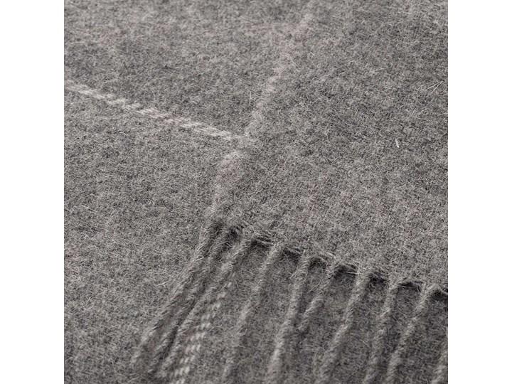 Pled Zelandia 140x200cm check grey, 140 x 200 cm Wełna Pomieszczenie Sypialnia 140x200 cm Pomieszczenie Salon