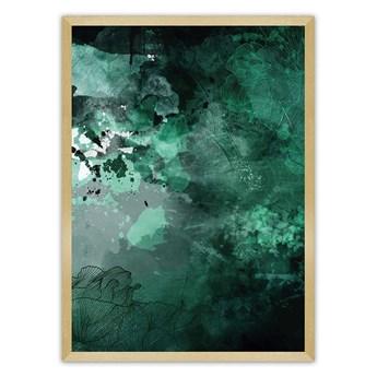 Plakat Abstract I, 30 x 40 cm, Ramka: Złota